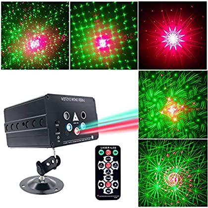 Party Lights DJ Disco Stage Lights Led Projector Karaoke Strobe Perform for Stage Lighting with Remote Control for KTV…