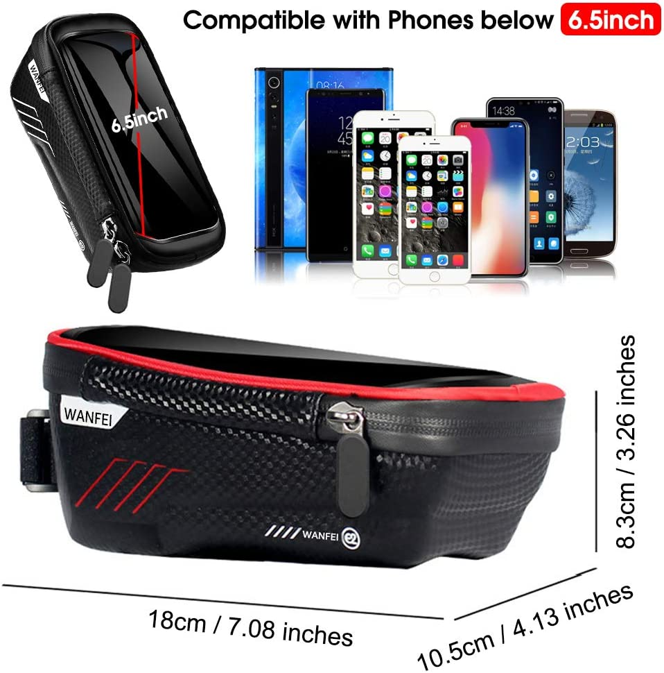 fineshelf Motorcycle Storage Bag Tube Bag Waterproof Storage Bag for Mobile Phone Navigator