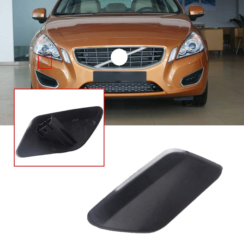 UPSM Front Bumper Headlight Washer Cover Nozzle Cap Right Side Fit for Volvo 2011 2012 2013 S60 Headlamp Cleaning Cover 39802699