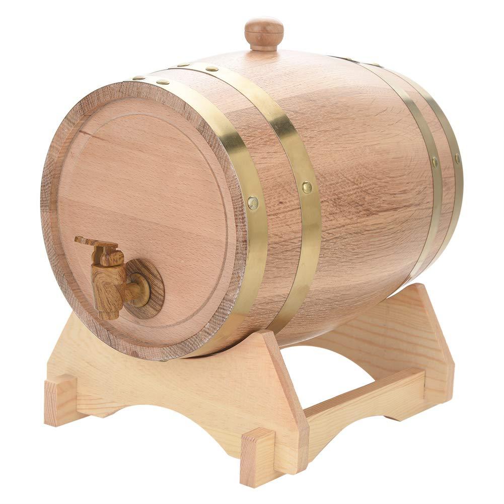 Oak Casks Wine Barrels,Vintage Wood Oak Timber Wine Barrel for Beer Whiskey Rum Port(#2)