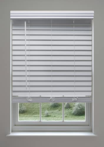 Linen Avenue Custom Cordless Faux Wood Blind