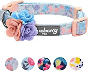 Blueberry Pet 5 Patterns Made Well Floral Print Dog Collar, Matching Leash & Harness Available Separately
