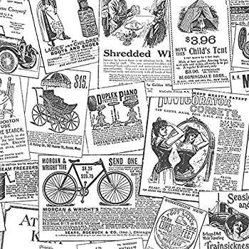 Chesapeake Ctr64271 Adamstown Cream Vintage Newspaper Wallpaper