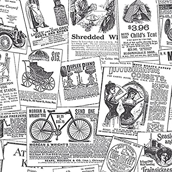 Black And White Vintage Newspaper Print Wallpaper   AmazonCom