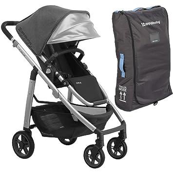 96660d48fb06f6 Amazon.com   2018 UPPABaby CRUZ Stroller - Jordan (Charcoal  Melange Silver Black Leather) + CRUZ Travel Bag   Baby
