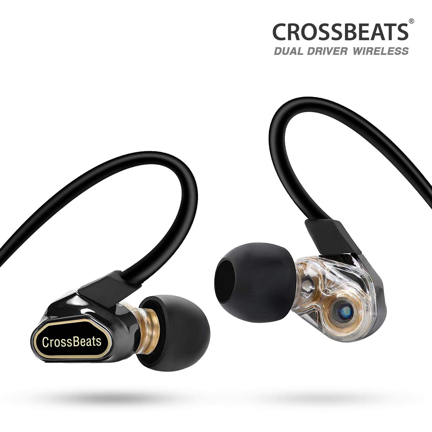 CrossBeats Fusion-Bluetooth Headphones-Dual Driver-Wireless