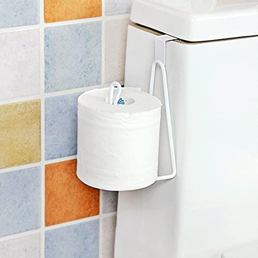 Toilet Paper Towel Holder Stainless Steel Handy Bathroom Toilet Paper  Holder Over Cabinet Door Kitchen Towel
