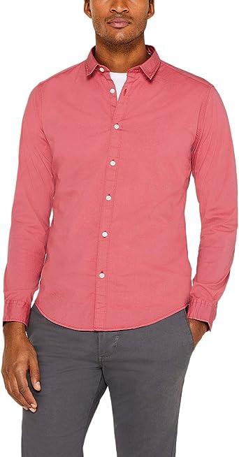 ESPRIT Camisa casual para hombre Rojo 630 Red XXL: Amazon.es: Ropa y accesorios