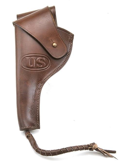 US M1917 1942  45 PISTOL REVOLVER HOLSTER Left Hand Version Premium Drum  Dyed Leather