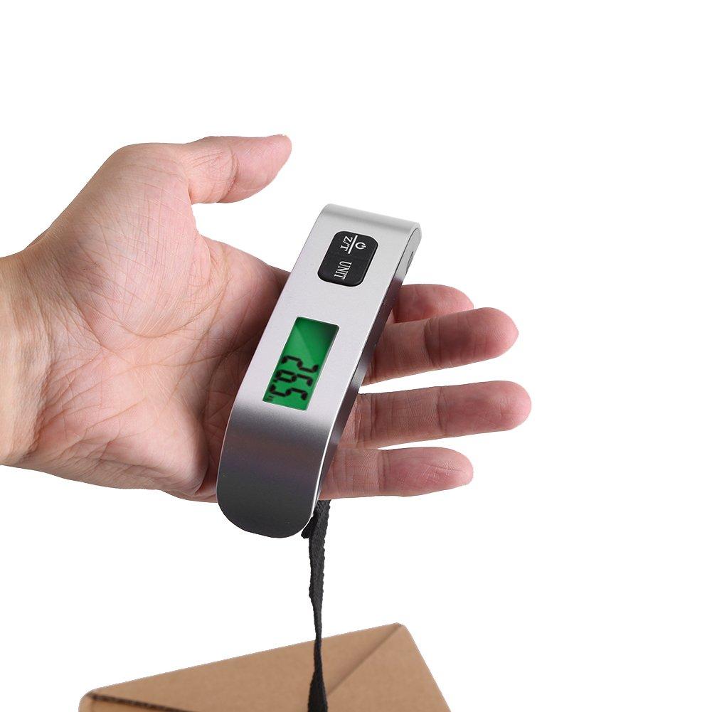 Báscula Electrónica para Balancín de Mano Báscula Electrónica para Balancín de Alta Precisión con Forma de T Báscula Digital Sensor de Temperatura y Función ...