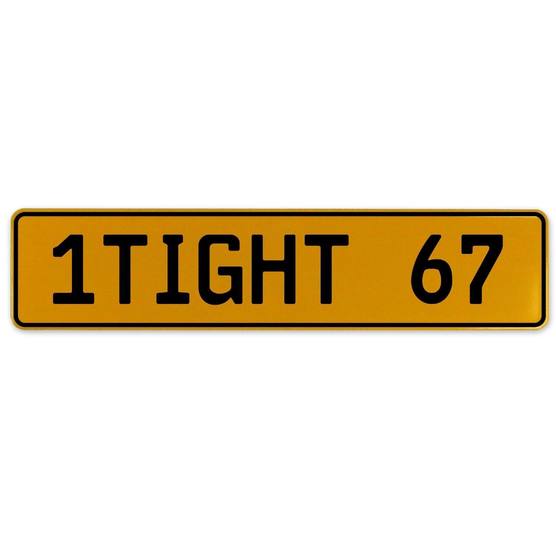 Vintage Parts 555071 1 Wet 78 White Stamped Aluminum European License Plate