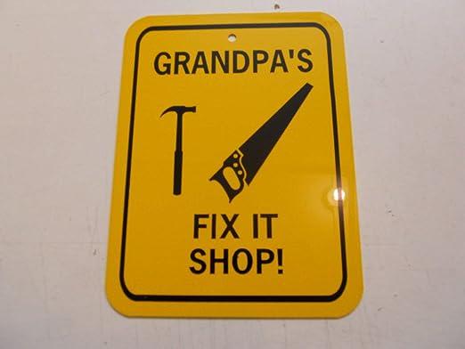 Dozili Cartel de Aluminio con Texto en inglés Grandpas Fix ...