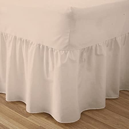 Plain Dyed Fitted Valance Quality Sheet Poly Cotton Bed Sheet All Colors Sizes