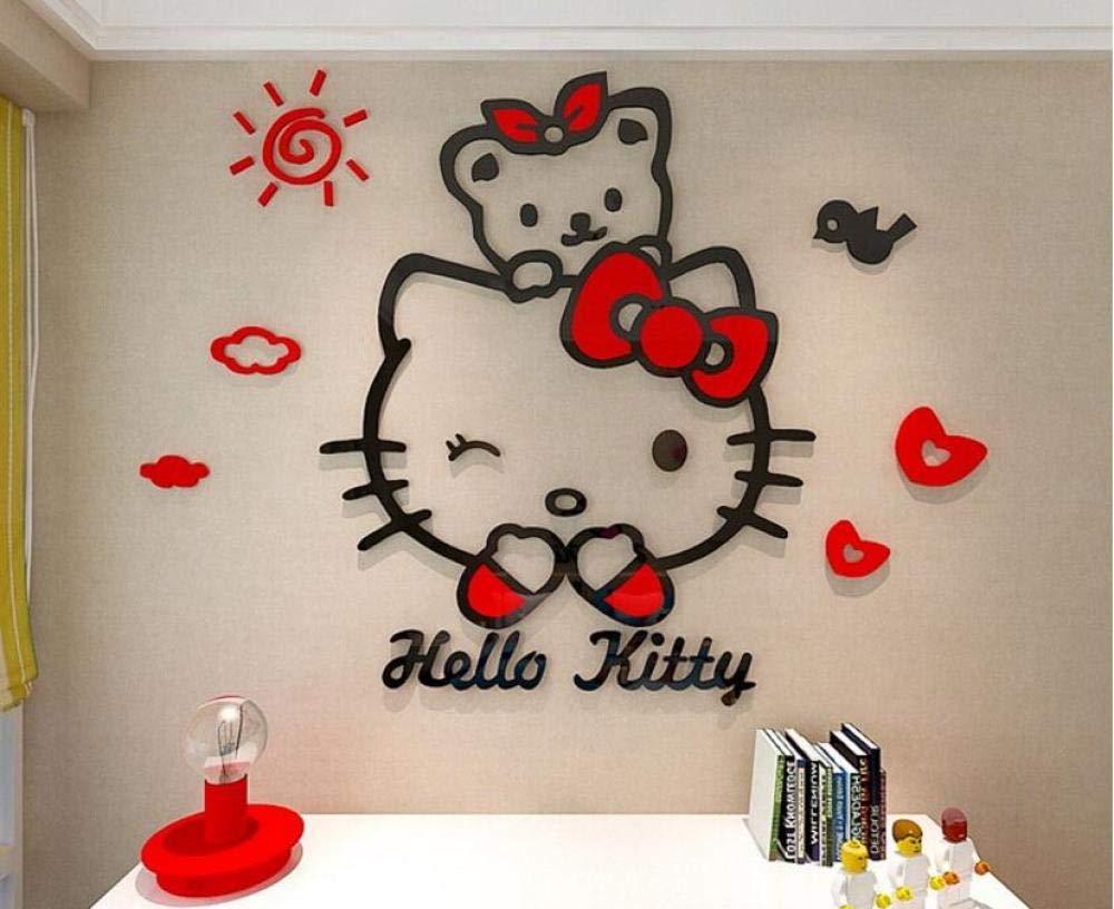 Decorative Stickers Home Decor Cartoon Mural Art Poster Cat Background Decal SL