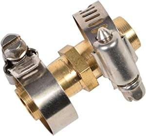 REGNHLIF Brass Garden Hose Connector Repair Mender Kit with Stainless Clamp,Fits 1/2