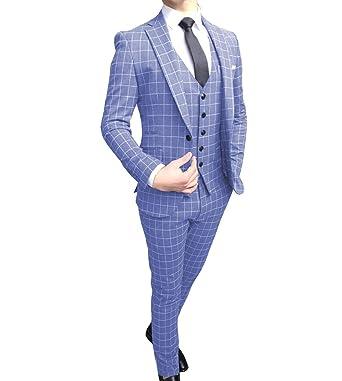 Solove-Suit - Traje para Hombre de 3 Piezas, Ajustado, para ...