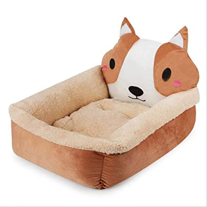 FLAMINGO_STORE Dog Bed cat Bed Dog Bed Soft Warm Plush Dog House for Large Dogs Pug