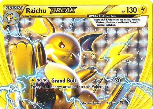 Pokemon - Raichu-Break (50/162) - XY -