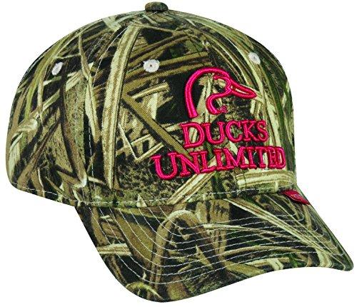 Mossy Oak Mossy Oakladies Ducks Unlimited Logo Camo Cap, Shadow Grass Blades Camo, Adjustable -