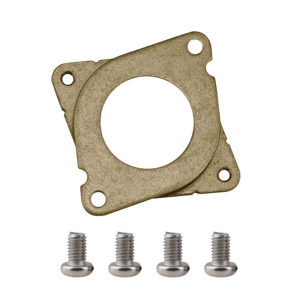 Cooyeah 3 Pieces Stepper Motor Steel And Rubber Vibration Dampers With 10 Pieces M3 Screws For CNC NEMA 17 3D Printer
