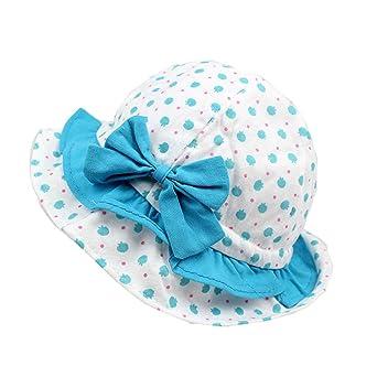 Scothen Baby Kinder Kleinkinder-Sonnenhut Kinnriemen,Kopfgröße,atmungsaktiv,Mädchen Mütze Sommer Kappe UV Schutz Sonnenschutz