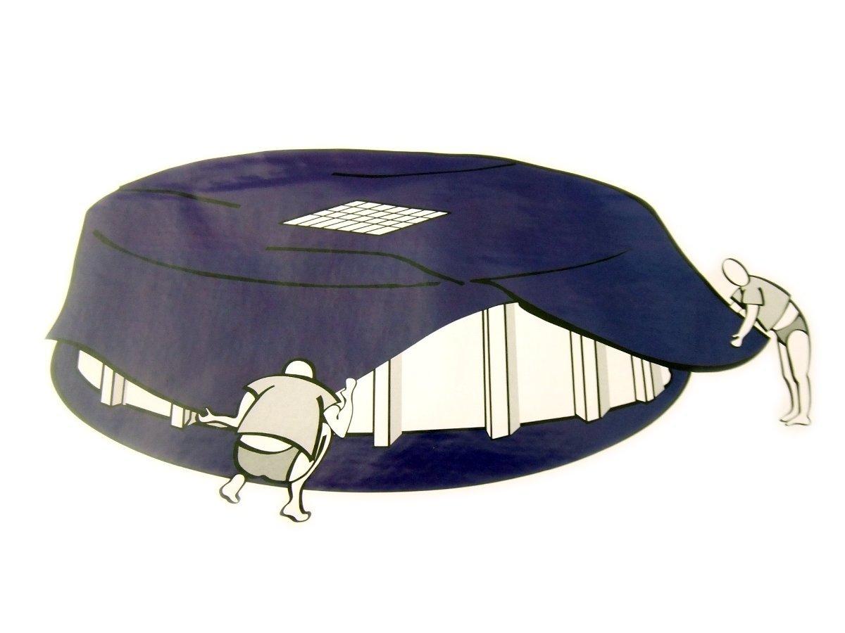Abdeckplane mit Ablaufnetz für Pool Ø5-5, 5m Poolabdeckplane Poolabdeckung Plane SoDePm