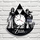 Zelda Art Vinyl Wall Clock Gift Room Modern Home Record Vintage Decoration Review