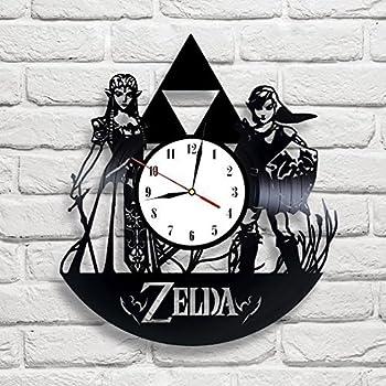 Zelda Art Vinyl Wall Clock Gift Room Modern Home Record Vintage Decoration