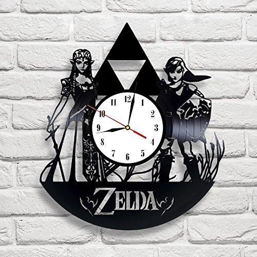 Zelda Art Vinyl Wall Clock Gift Room Modern Home Record