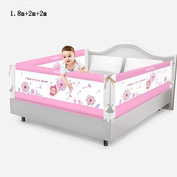 Valla seguridad infantil escalera Brisk- Cama Barandilla \ barandilla Cama para niños Combinación de barandas 3 vallas de cara \ camas Sombrilla Gran cama deflectora (Color : Rose red-1.8m+2m+2m): Amazon.es: Hogar