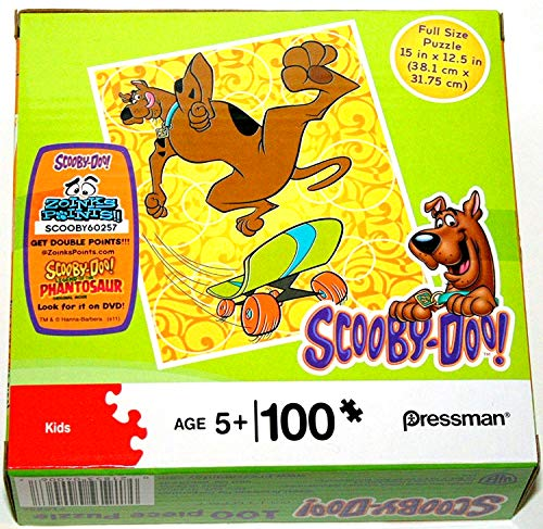 Scooby Doo 100 Piece Jigsaw Puzzle (Skateboarding) Action Sport Freestyle Tricks Skateboard (15 X 12.5 inches) Pressman Toys Hanna Barbera Warner Bros 2011 DISCONTINUED