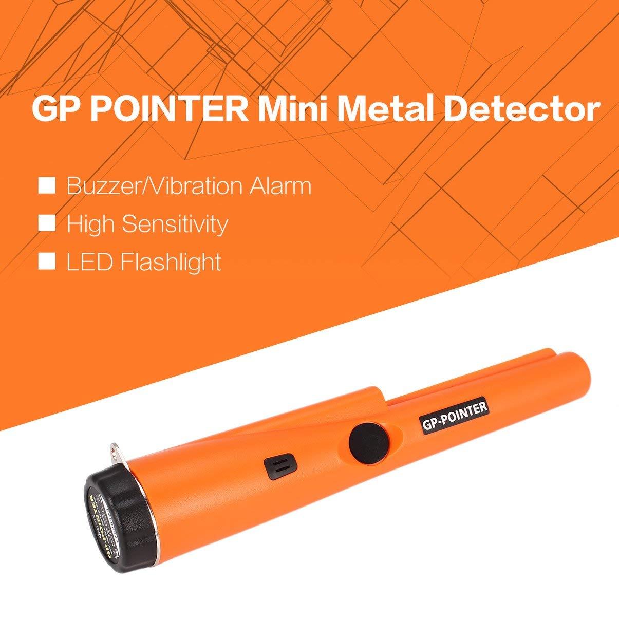 JullyeleESgant GP Pointer Handheld Mini Pro Detector de Metales señalado Moneda de Plata de Oro Buscador de Tesoros Búsqueda de Caza Alarma de vibración: ...