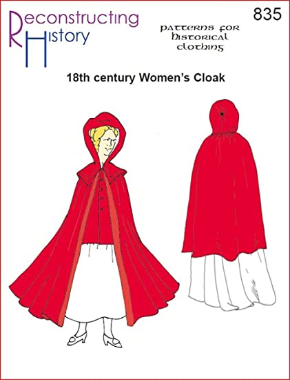 Amazon.com: 18th Century Women\'s Cloak Pattern: Arts, Crafts & Sewing