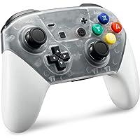 SamRC Wireless Pro Controller for Nintendo Switch with 6-Axis Somatosensory Design (White)