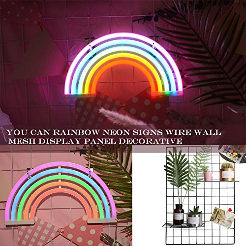 AES US Neon Signs,Rainbow Neon Light Sign Shaped Night Light Wall Decor for Chistmas,Birthday party,Kids Room, Living Room, Wedding Party Decor(Rainbow) by AES US (Image #3)'