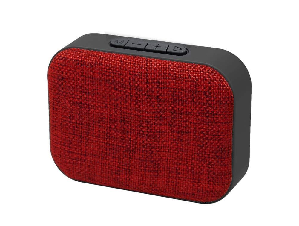FOONCH ポータブルBluetoothスピーカー 多機能アウトドアワイヤレスミニスピーカー Uディスクプレイバック Bluetooth 4.2 ハンズフリー通話 レッド  レッド B07GZDGGH9