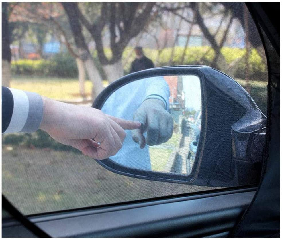 with Holes ZONSUSE Parasol Coche Bebe Protege Ni/ños y Mascotas contra los Rayos UV Ventana de la Visera Parasol Protecci/ón UV Protecci/ón del Sol y el Calor Doble Tejido 2pcs 120 * 60 * 55cm
