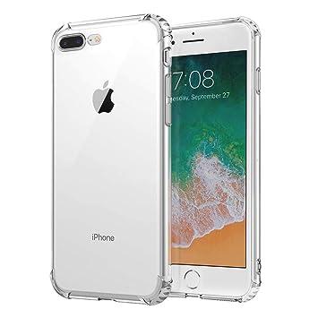 394224e344 Andoke iPhone8 Plus / iPhone7 Plus ケース クリアケース TPU 超薄型ケース ストラップホール