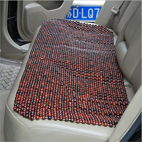 HomDSim Upmarket For Summer Auto Car Seat Cover Cushion Mat Red Wood Rosewood Wooden Bead Cool and Refreshing Home Office Chair Red Acerbity Branch (Rear seat)