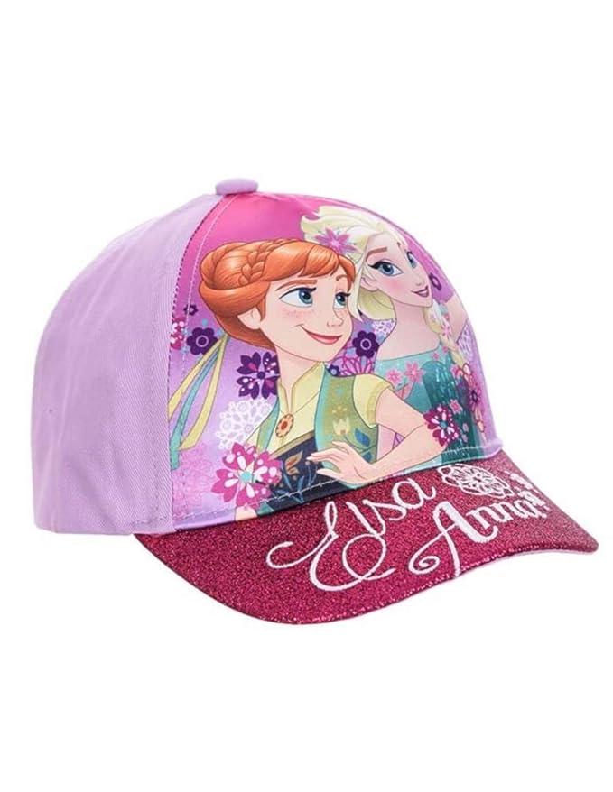 fe95bf8698709 La Reine des Neiges Casquette Enfant Fille Paillettes Violet et Rose de 3 à  9ans - Rose foncé, 54 cm (6-8 Ans): Amazon.fr: Vêtements et accessoires