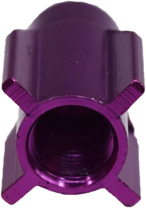 V2 Rakete Reifen Ventilkappen aus Hochwertigen Aluminium in Violett im Set zu 4 St/ück Eintragung Frei