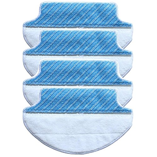 GIBTOOL 4-Pack Wet & Dry Mircofiber Mopping Cloth for Ecovaces Deebot DT85 DT83 DM81