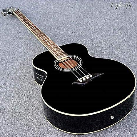 Guitarra acústica eléctrica de 43 pulgadas, 4 cuerdas, 24 trastes ...