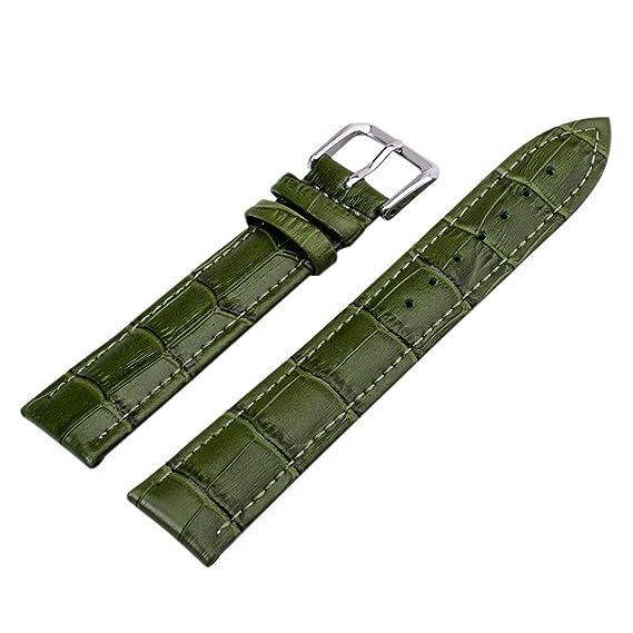 22mm Unisex Cuero Correa de Reloj venda de reloj correa para relojes Verde  oscuro  Amazon.es  Relojes f3ccd6bf912