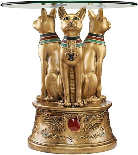 Design Toscano Royal Golden Bastet Egyptian End Table