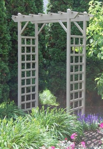 Pergola Arbor Garden (Dura-Trel 11178M Providence Arbor, Mocha)