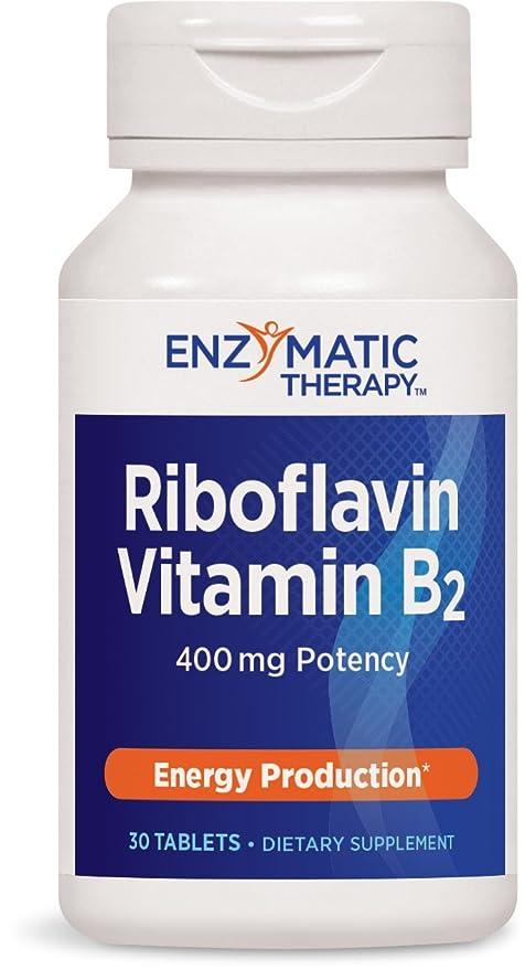 Riboflavina Vitamina B2, producción de energía, 400 mg, 30 comprimidos - terapia enzimática
