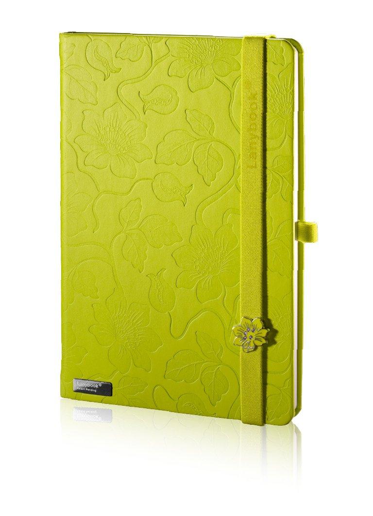 Lanybook Innocent Passion - Taccuino formato A5, 192 pagine a quadretti, con tasca interna, copertina rigida, colore: verde Lediberg GmbH (Office)