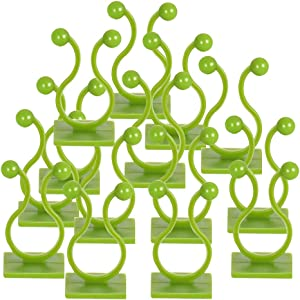 Plant Clips,Climbing Plant Clips Green Vine Wall Fixture Self Adhesive Vine Support for Garden Wire Climbing Plants Green 100pcs