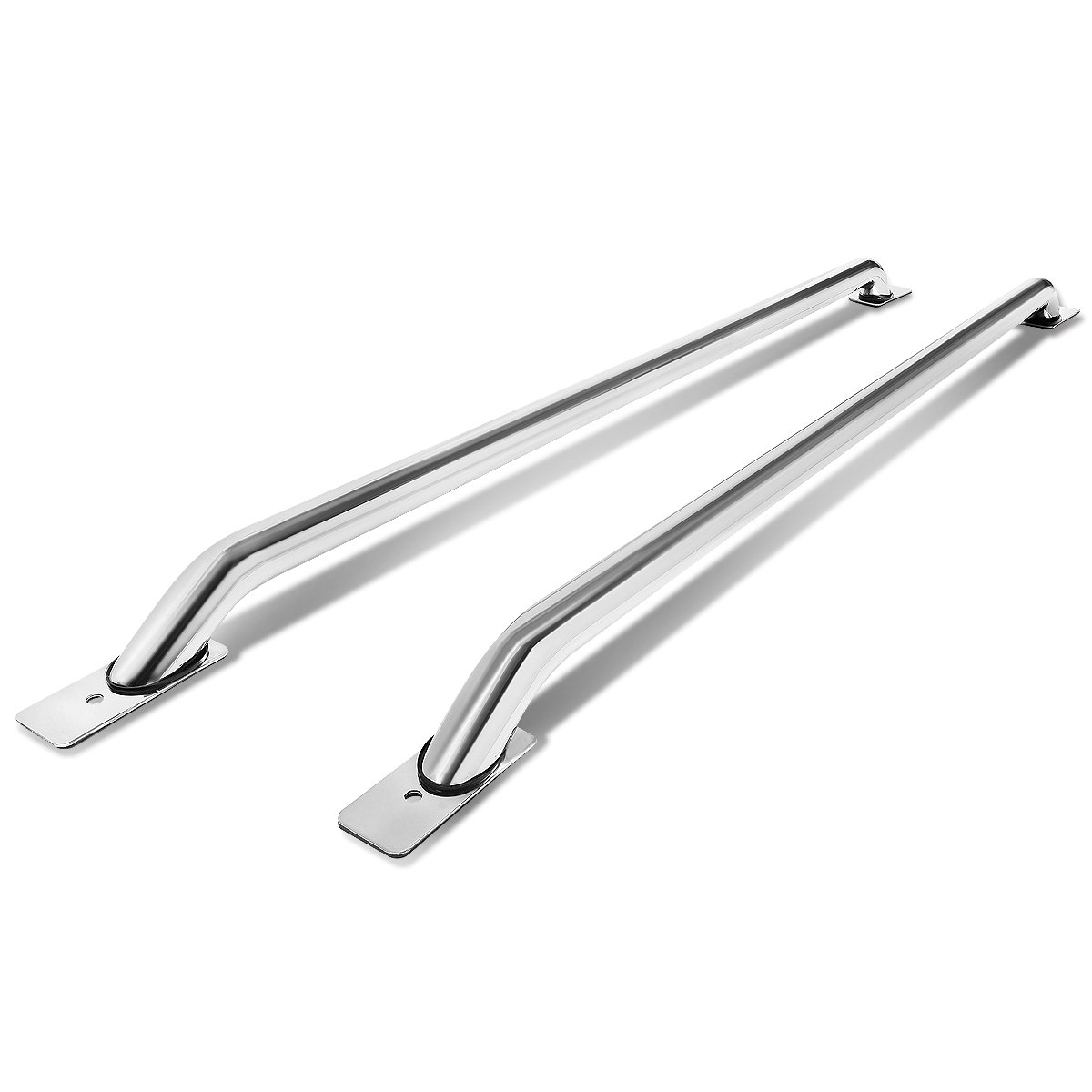 Pair of Stainless Steel Chrome Truck Side Bar Rail For Ford Super Duty 6.5ft Bed Cab Auto Dynasty